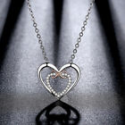 Cute heart carve MUM Lucky pendant white gold filled long chain neclace Fashion