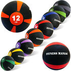 Weighted Medicine Ball Fitness Exercise Muscle Body Workout 8 10 12 14 16 lbs image