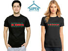 King Queen TSHIRT GREEN RED Line Fashion Style Couple Tee Shirt