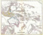 Australien 1856 Map 75cm x 60cm High Quality Art Print