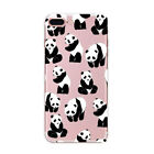 Funny Cat Dog Panda Silicone TPU Phone Cover Case For Iphone 5 6 6S 7 8 PLUS X