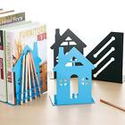 1Pair House Style Metal Bookends Home Offce Decor Book Stand With Pen Holder