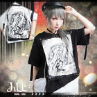 punk visual anime haunting spirit layered look baggy long tshirt【JAG0011】