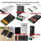 TOMO S4/M2/M3/M4/T4 Smart Power Bank Charger Battery Case Box 18650 Dual USB ED $12.54 USD
