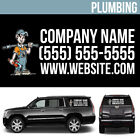 Plumbing Business Logo Vinyl Decal Personalized Advertising Your Text - 3 pcs