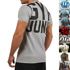 Men Gym Training Fit Solid Cotton Muscle Casual Shortsleeve Sport T-shirt Tee
