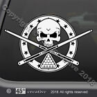 Billiards Skull Crossbones Decal  pool table skull decal cue stick skull sticker $10.95 USD on eBay