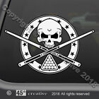 Billiards Skull Crossbones Decal  pool table skull decal cue stick skull sticker $6.95 USD on eBay