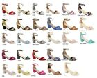 open toe nude shoes - New Womens Ankle Strap Mini Mid Low Chunky Block Heel Open Toe Pump Sandal Shoes