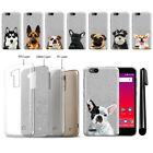 "For ZTE Tempo X N9137 Z839 5"" Dog Sparkling Silver TPU Silicone Case Cover + Pen"