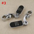 "1.25"" 1-1/4"" Chrome Highway Short Angled Streamliner Bar Foot Pegs For Harley $49.95 USD on eBay"