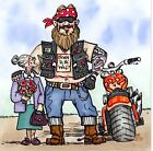 Personalised card, Hells Angel, Birthday, Retirement, Mothers day, any occasion