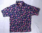 Nikelodeon all-over print Spongebob + Patrick button-up shirt Men's L #G11