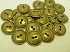 New 10 Antique Brass Finish Metal Buttons size 1/2  7/16  5/8 11/16, 13/16 ab15