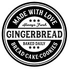 Made With Love Gingerbread Cake Cookies Vinyl Decal Sticker Kitchen Wall Choice