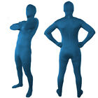 body earthing and neutral earthing - Full Body Neutral Blue Lycra Spandex Zentai Halloween Party Costume Catsuit S-2X