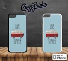 Live Simply Cool Quote VW Camper Life Hard Case Cover for all iPhone Models F118