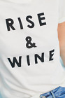 NWT $78 Anthropologie Sol Angeles Rise & Wine Graphic Tee White Size S