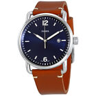 Fossil Commuter Brown Leather Mens Watch - Choose color