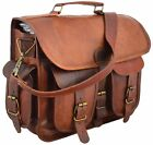 High Quality Men Handcrafted Briefcase New Genuine Leather Laptop Messenger Bag