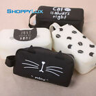 Big Pencil Case Bag 1pc Hot Cat Zipper Pocket Printed Cartoon Gray Plush Makeup