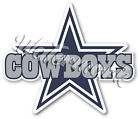 Dallas Cowboys Star with text Sticker Vinyl Decal / Sticker 5 sizes!!