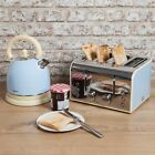 **NEW**Swan 1.7 Litre Retro Dome Kettle and 4 Slice Toaster Blue