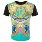 New Authentic Versace Jeans T- Shirt  Men Print Logo Tiger Snake