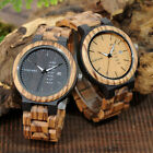BOBO BIRD Wood Week Display Date Quartz Casual Wooden Mens Watch (USA Shipping!) image