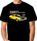 FORD  XA GT  FALCON  COUPE  351GT      QUALITY BLACK T-SHIRT  ( 9 CAR COLOURS)