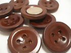 New lots of Real Leather Brown Large Coat Buttons 1 5/16 33mm or 1 9/16 40mm LR