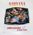 NIRVANA KRIST NOVOSELIC SIGNED UNPLUGGED IN NEW YORK 12x18 POSTER PHOTO W/COA
