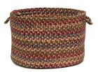 Twilight Round Braided Wool Blend Basket, TL70 Rose ~ Made in USA