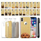 "For Apple iPhone X 5.8"" Dog Design Slim Sparkling Gold TPU Case Cover + Pen"