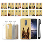 For ZTE Kirk Z988 / Z963U Dog Design Slim Sparkling Gold TPU Case Cover + Pen