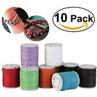 Payong 10pcs 10M 1MM Waxed Cotton Cords Strings Ropes For DIY Necklace Bracelet