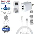 10ft Extra Long 8 Pin USB Power Cord Cable for iPhone SE,7,8+ Wall CUBE Charger