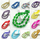 20pcs Faceted Teardrop glass crystal Loose Spacer beads 8x12mm DIY