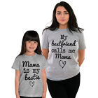 My Mama is my bestie Matching T-shirt Mummy Mothers Day Gift Mum Mommy and me