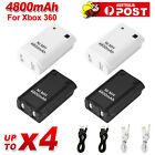 4 Rechargeable Battery + USB Charger Cable Pack for XBOX 360 Wireless Controller