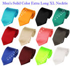 Внешний вид - NEW! Manzini® Neckwear Men's Solid Color Extra Long XL Neck Tie! Various Colors!