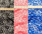 Sheer Stretch Floral Lace Polyester Elastane Fabric Material