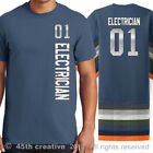 Electricians Sport Jersey T Shirt - electrical electrician sports jersey shirt