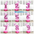 13pcs/set Number Foil Balloon Decor Party Celebration Pink Blue Small Balloons