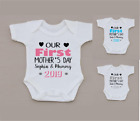 PERSONALISED unisex first MOTHER'S DAY baby clothing vest babygrow great gift