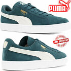 PUMA Shoes Green Classic Plus Suede Leather Mens Retro Trainers Boots Sports UK