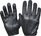 Gloves Leather Police Duty Search Shooting Driving Black Unlined XS,S,M,L,XL,2XL