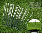 GREEN METAL GROUND GARDEN MEMBRANE PINS FABRIC HOOKS PEGS STAPLES U PINS 6