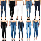 New Womens Ladies Jeggings Plain/Faded Slim Fit Skinny Jeans Denim Sizes 6 - 18