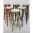 MADE TO ORDER ! - BRAND NEW SOLID & STURDY HARD BEECH WOOD BAR STOOLS H: 73 cm